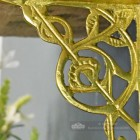 Detailed image of casting pattern on trellis bracket