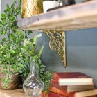 Wall Mounted brass shelf bracket