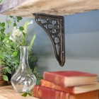 Coalbrookdale iconic design shelf bracket finished in natural iron