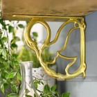 Household Hardware Swan design brass shelf bracket