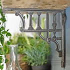 Greek design wall mounted shelf bracket