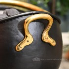 Polished Brass Handles on the Side of the Coal Bucket