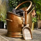 Coven coal scuttle finished in antique bronze