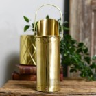 Brushed Brass Match stick holder on table