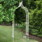 Garden entrance archway finished in cream