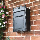 Robust rectangle post box mounted on wall