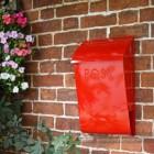 Post & Newspaper box mounted on wall