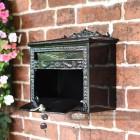 Black Decorative Wall Mounted Post Box
