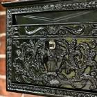 Ornate Casting Detail on secure letter box