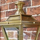 Close up of antique brass lantern