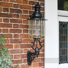 Belgravia Lantern and Royale Bracket by the Front Door