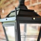Close up of corner finials on Dorchester lantern