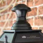 Close up image of Lantern Finial on outdoor gothic lantern