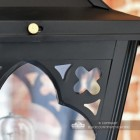 Close up of Gothic style metalwork on lantern