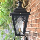Church yard Gothic lantern on wall bracket