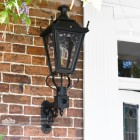 Black Gothic Wall Lantern on Royale Bracket 95 x 48cm