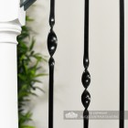 Detailed image of black stair spindle