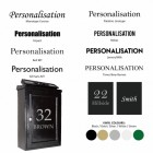 Customisation options for black post box