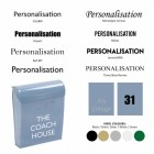 Vinyl Font Personalisation options