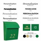 Green post Box Personalisation options