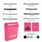 Pink post box customisation options