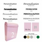 Pink post box customisation options