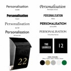 Black post box customisation options