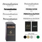 Product customisation font options