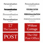 Personlisation font available