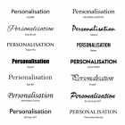 Personalisation Fonts available for the Grosvenor Telescopic Post and Parcel Box