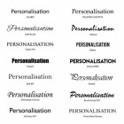 Available Fonts for Personalisation