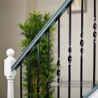 Interior spindles on staircase