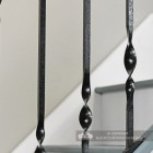 Detailed image of double twist iron spindles