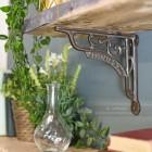 Natural iron ornate shelf bracket