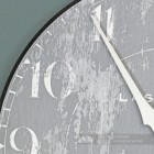 Close up of shabby chic print on wall clock