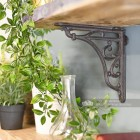 Decorative rustic iron shelf bracket