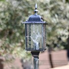 Hand leaded glass on classic lantern