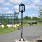 Charming antique black & Silver lamp post