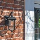 Beautiful nautical garden lantern on brick wall
