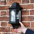 Scale image of flush fit brick wall lantern