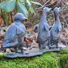 Walking Ducklings Garden Ornament