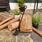 Traditional fireside brush for log or coal fires