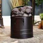 Black  coal hod in living room