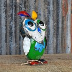 Multi Coloured owl Sculpture