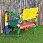 Colourful chair - Recycled metal