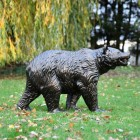 Side View of the Bear Cub Antique Bronze Garden Sculpture