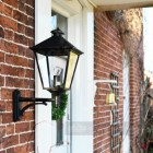 Beautiful wall lantern on bracket