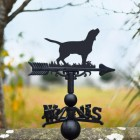 Iron Beagle Weathervane in Use Outdoors