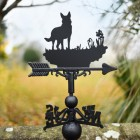 Beautiful German Shepherd Weathervane in garden