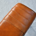 Close up of ribbed detail on leather